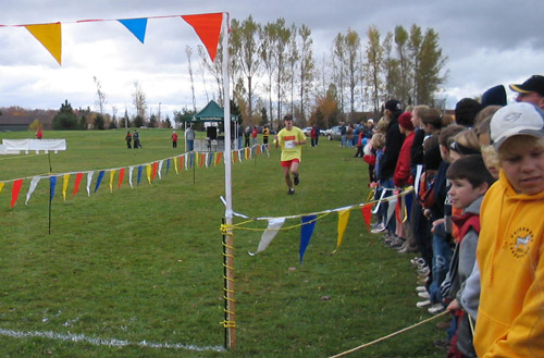School Provincial Cross-Country Championships finish