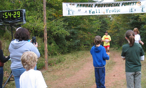 PEI Dept. of Forestry Vista of Colours Run (Fall Frolic) Finish