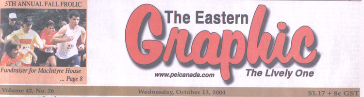 Front Page of the Eastern Graphic Oct. 13 link to B&W photo
