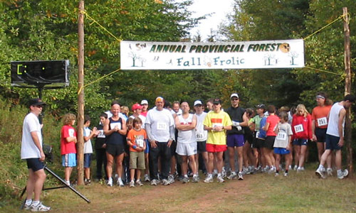 PEI Dept. of Forestry Vista of Colours Run (Fall Frolic) Start
